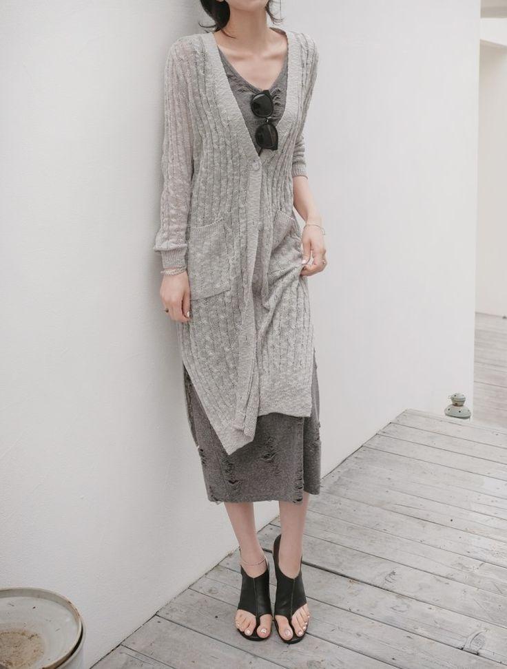 [reflower] 맥시롱꽈가디건/long twisted spring cardigan : 리플라워