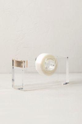 tape dispenser with gilded edge // lucite desk accessory