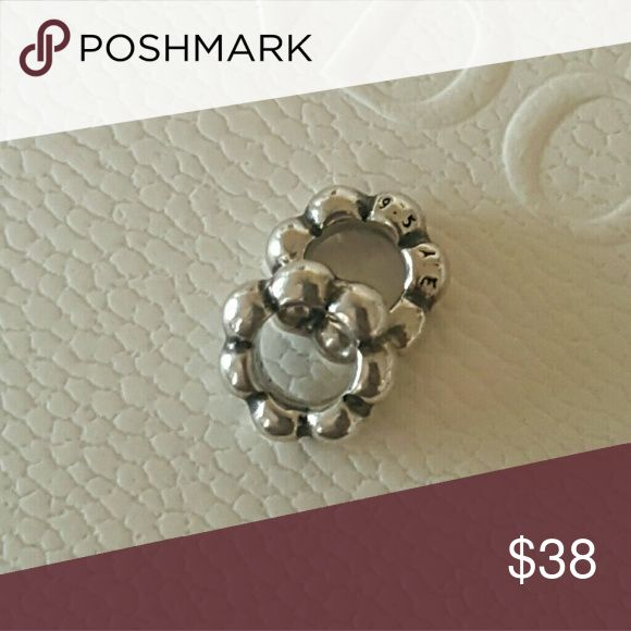 2 Pandora Bubble Silver Spacer Charms Set of 2 100% Authentic Pandora  Good condition  Properly Stamped  Pandora stores offer lifetime free cleaning  No box included  Bundle for discounts Pandora Jewelry Bracelets