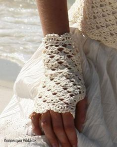 Pattern: Fingerless Points Fantasies Gloves. ༺✿ƬⱤღ✿༻