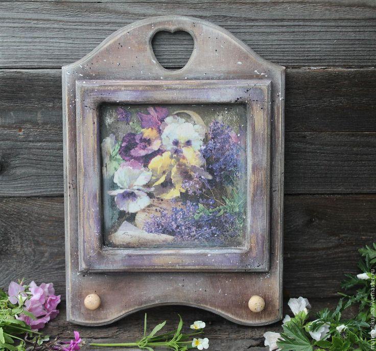 """Купить """"Краски лета"""" ключница - сиреневый, анютины глазки, анютки, лето, летние цветы"""