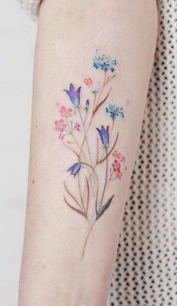 100 Trending Watercolor Flower Tattoo Ideas For Women Flower