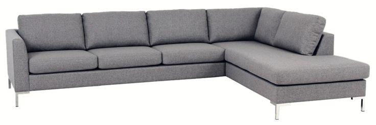 Köp FREYA Hörnsoffa 3A m ö avslut höger soffa tyg Rocco - Stort utbud hos EM.com
