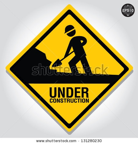 Under construction sign, Vector