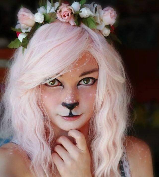 Waldfee Lidschatten Halloween Schminke Ideen Frauen