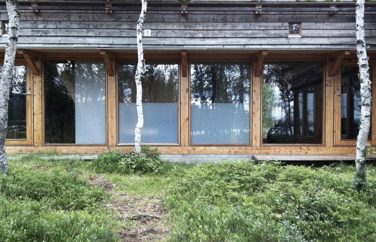 Glass and wood facade. Cabin, Hemsedal, Hille Strandskogen Arkitekter