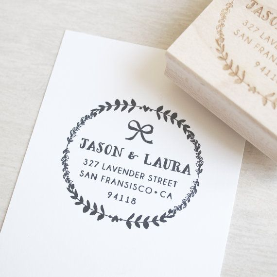 Custom Stamp Address   personalized wedding gift by blinksoflife, $48.00