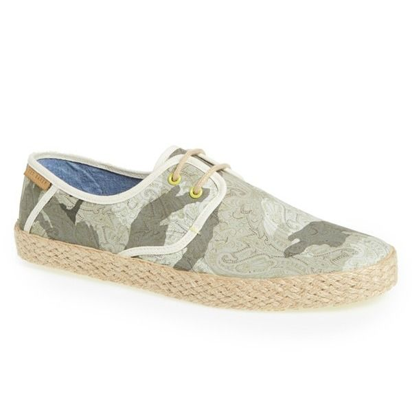 Ted Baker London 'Drilll 3' Espadrille Sneaker. #shoes #espadrille #sneakers #menshoes #fashion #mensfashion #camo #greyshoes #men #man #clothes #accessories