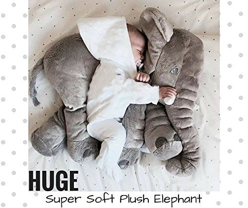 Baby ELEPHANT TOY PILLOW Cuddly Plush Stuffed Animal Wild Safari Big Cute Soft Fluffy Warm Infant Baby Boy Girl Appease Comforter Toy Nursery Decoration Baby Shower Gift ♥ LIKE ♥ COMMENT ♥ REPIN ♥ SHARE ♥
