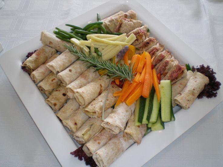 Wraps, crudite and sandwiches. www.tboc.co.za