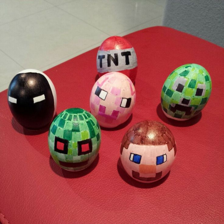 Minecraft Easter eggs 2014 | Handmade by | Pinterest | Easter eggs ...