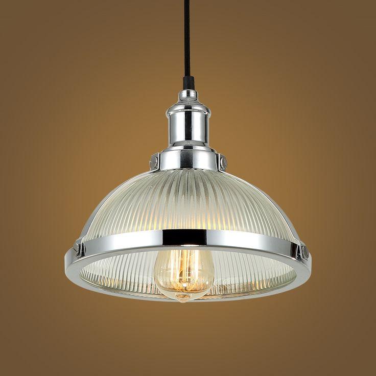 (40.00$)  Know more  - Loft American retro lamp shade glass hang lamp Cafe cafe bar bar personality creative lighting.