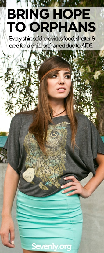 LOVE THE SHIRT //  LOVE THE CAUSE //  LOVE THE ORPHAN HERE ➤ http://sevenly.org/?cid=PINTEREST_Test