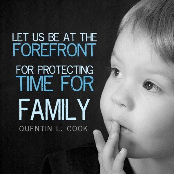 Protect family time...stop the glorification of busy. The ...
