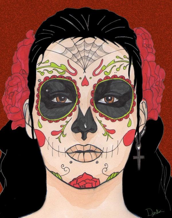 Mexican Candy Skull Girl   Amazing Tattoos   Pinterest   Candy Skulls Skulls And Skull Makeup