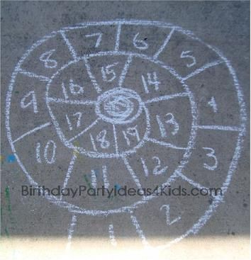 Sidewalk Chalk Games - this link has about 30 games and activities to do using chalk