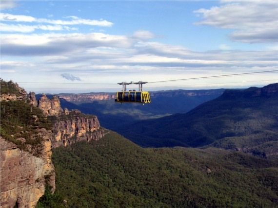 Cable Car ride over the Blue Mountains, Sydney...what a view