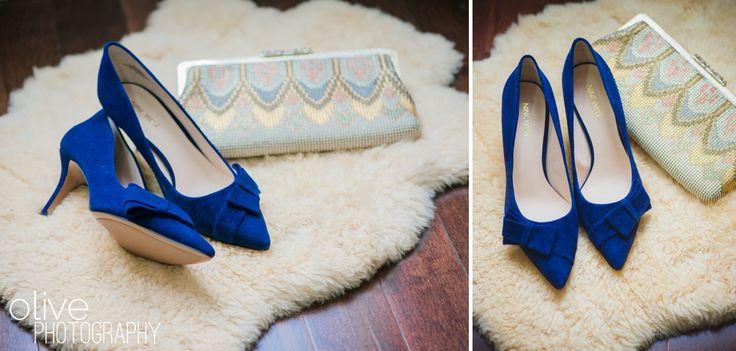 Blue suede shoes - Something blue - Blue wedding shoes | Olive Photography | www.olivephotography.ca | Toronto & GTA wedding photographer