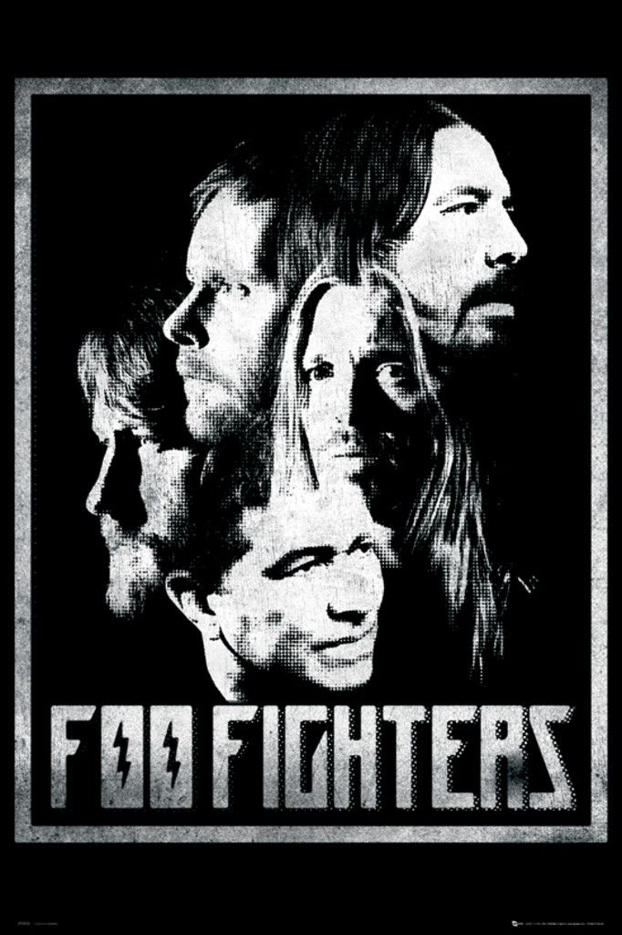 Foo Fighters Group - Official Poster. Official Merchandise. Size: 61cm x 91.5cm. FREE SHIPPING