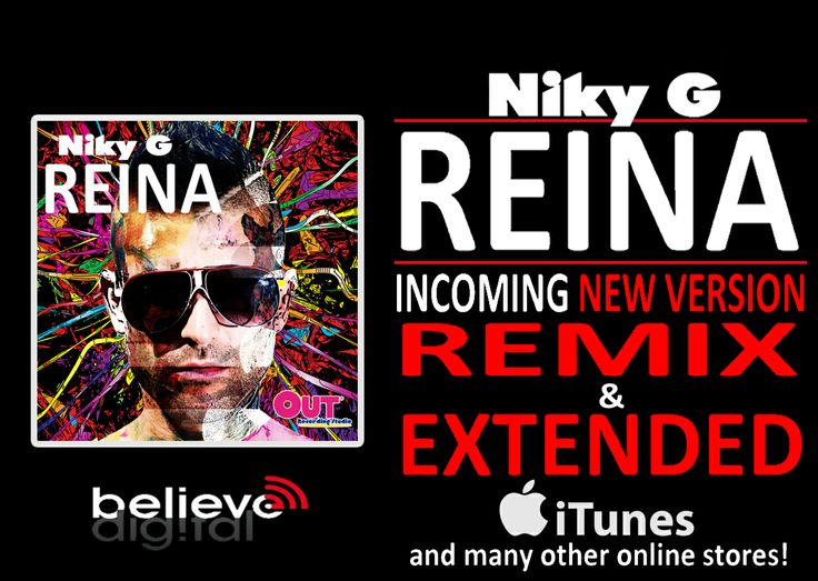 REINA! Incoming two new version! REMIX & EXTENDED!  Download now the RADIO VERSION! https://itunes.apple.com/it/album/reina-single/id837626955