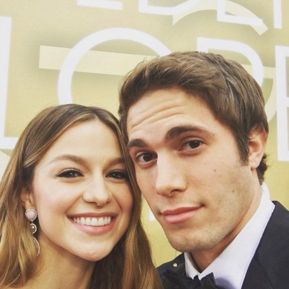 "Pin for Later: Les Meilleurs Instagrams des Golden Globes Melissa Benoist et Blake Jenner ""We are here!!!! #goldenglobes @blakedaflake"""