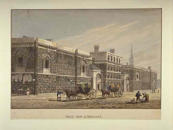 West View of Newgate by George Shepherd (1784-1862)