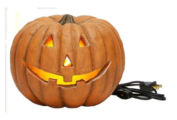 Light Up Carved Jack-O, Small on One Kings Lane today: Medium Carvings, Matching Pumpkin, Resins Jack, Electric Lights, Jacko Lightup, Jack O' Lanterns, Carvings Jack O', Happy Halloween, Carvings Jacko