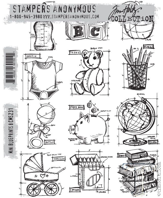 42 best blueprint stamps tim holtz images on pinterest digi mini blueprint stamps 8 tim holtz malvernweather Choice Image