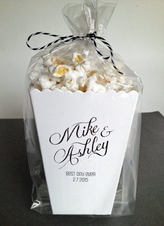 Our Love is Poppin/' Mini Popcorn Box Favor Wedding Favor Bar- Wedding Popcorn Favor Our Love is Popping! Custom Printed Popcorn Box