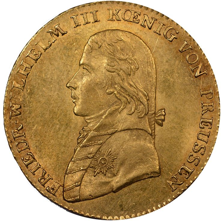 1798-1816 German States PRUSSIA Frederick D'or obverse