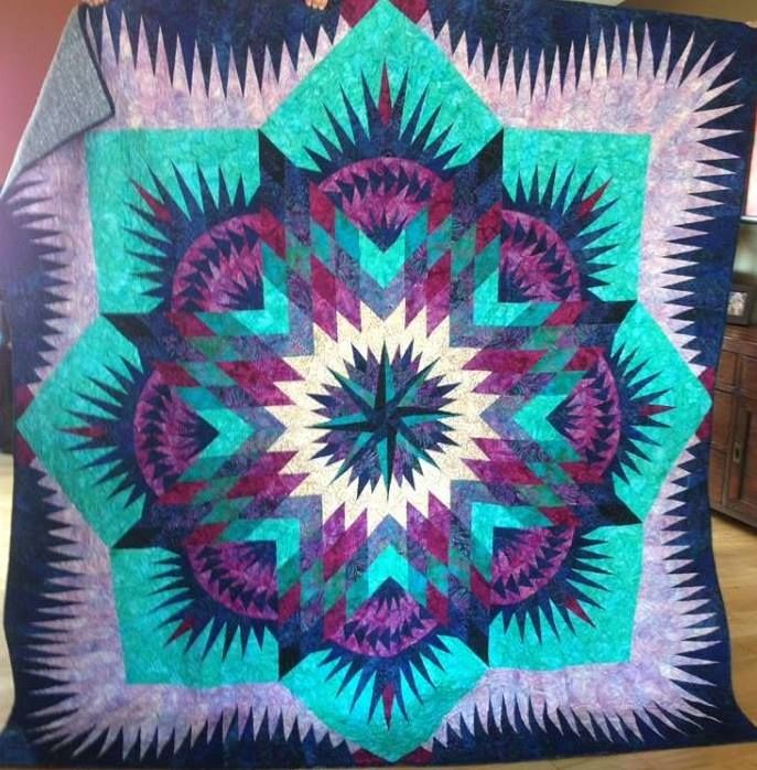 Prairie Star ,Quiltworx.com, Made by CI Janet Spinks