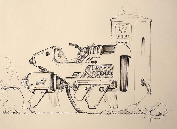 ArtStation - Some mech and spaceship concept sketches, Yigit Koroglu