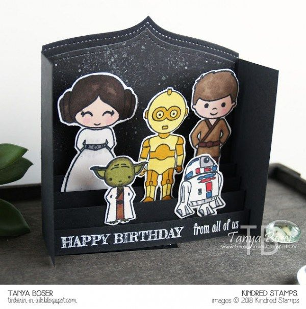 Project Star Wars Pop Up Card Star Wars Cards Starwars Birthday Card Cards