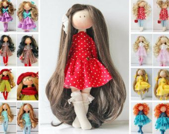 Textile doll Bambole Soft doll Puppen Handmade doll Rag doll Interior doll Art doll Cloth doll Red doll Tilda doll Fabric doll by Olesya __________________________________________________________________________________________ Hello, dear visitors! This is handmade textile doll created by Master Olesya N. (Russia). All dolls stated on the photo are mady by artist Olesya N. You can find them in our shop searching by artist name. Here are all dolls of artist Olesya: https://www.et...