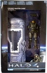 "Name: Cryonic Frozen Master Chief with Cryotube Manufacturer: McFarlane Toys Series: Halo 4 Series Deluxe Series 1  Release Date: July 2012 For ages: 4 and up Details (Description): Stranded in deep space at the end of Halo 3, Master Chief entered a Cryotube aboard the ship Forward Unto Dawn, telling his artificial intelligence companion, Cortana, to ""wake me, when you need me."" Halo 4 begins with Master Chief waking up ready to face new threats and mysteries. Cryotube is approximately 9…"