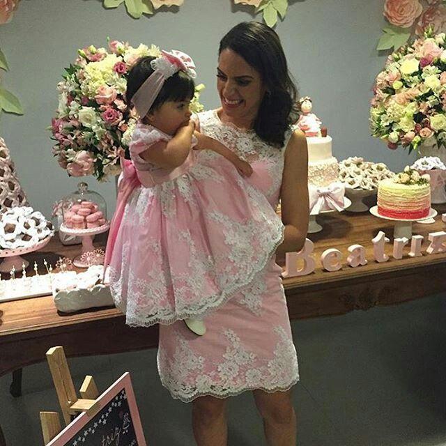 Vestido  para a festa de 1 ano  da Emanuela