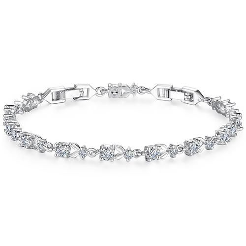 Crystal Chain Link Bracelet    BUY HERE => www.beeutifuljewels.com