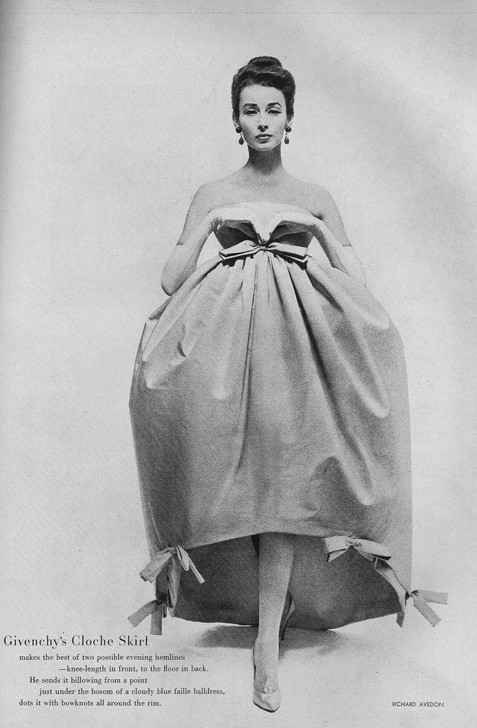 Spectacular Givenchy dress - November Vogue 1956