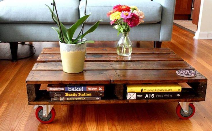 Uma bela mesa de centro! #pallets #decoração