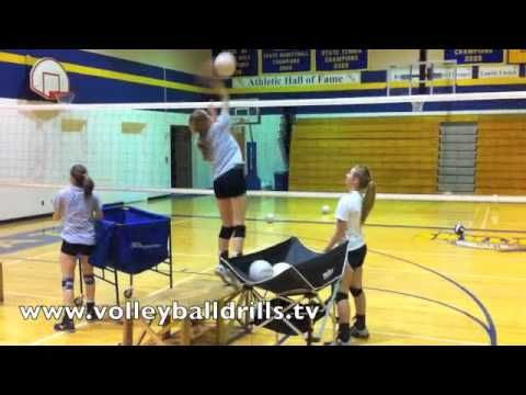 Beginner Volleyball Passing Drill: Shuffle Passing - YouTube