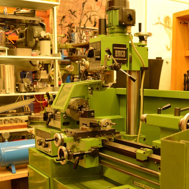 My atelier: lathe and milling machine