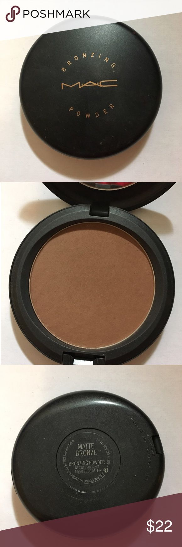 MAC bronzer - Matte Bronze Slightly used. Awesome contour color MAC Cosmetics Makeup Bronzer