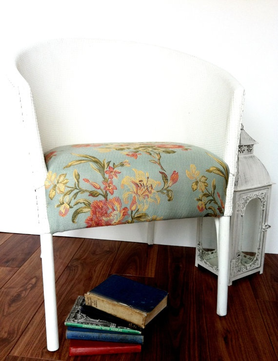 Vintage Painted Lloyd Loom Chair.  LittleVintageHome on etsy (108 dollars).