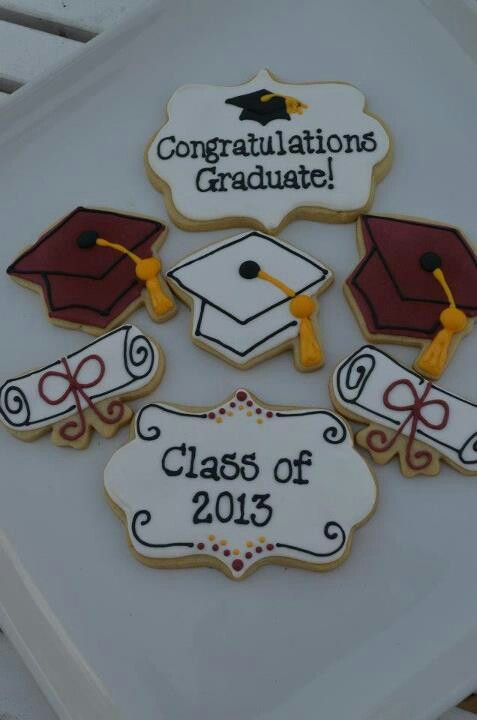 Beautiful graduation cookies