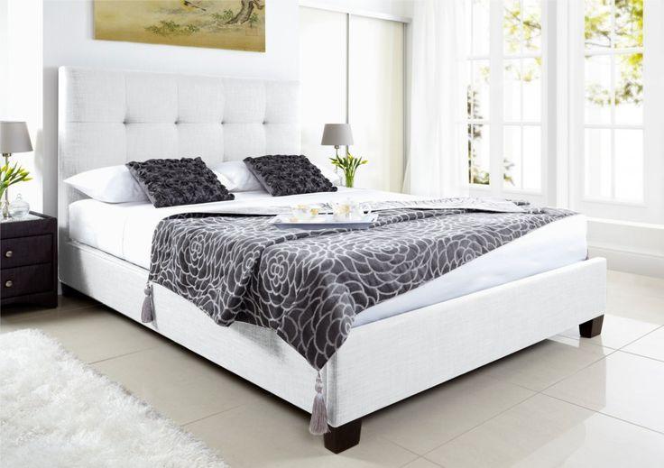 Kaydian Walkworth Ottoman Storage Bed - White Leather