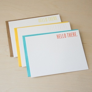 Hello there letterpress cards by SeeSaw Designs
