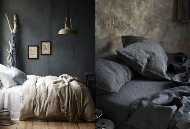 10 stijlvolle zwarte slaapkamers - Rustiek | ELLE Decoration NL