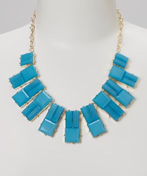 Another great find on #zulily! Sorta Southern Boutique Blue Chip Bib Necklace by Sorta Southern Boutique #zulilyfinds