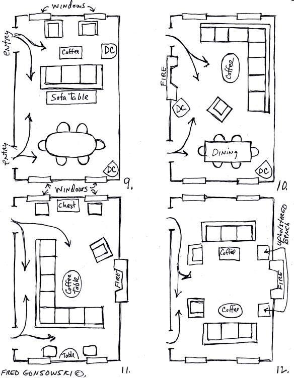 Arranging furniture TWELVE different ways in the Same Room | Fred Gonsowski Garden Home