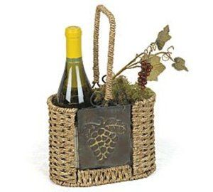 Sonoma Wine Basket Holds Bottles